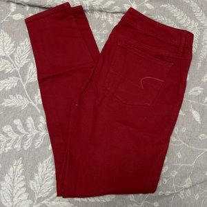 American Eagle Stretchy Red Jegging